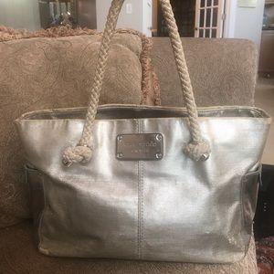 ✨Kate Spade✨ Silver Satchel/Tote/Shoulder Bag